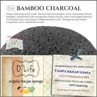 Jual Konjac Sponge Organic O'Life CHARCOAL / Pembersih Pori (KSHB02) Murah
