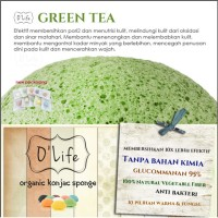 Jual Konjac Sponge Organic O'Life GREEN TEA / Pembersih Pori (KSHB03) Murah