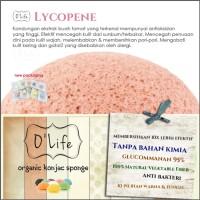 Jual Konjac Sponge Organic O'Life LYCOPENE / Pembersih Pori (KSHB07) Murah