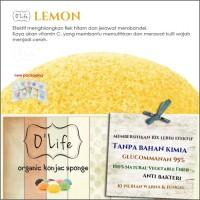 Jual Konjac Sponge Organic O'Life LEMON / Pembersih Pori  (KSHB05) Murah