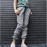 Ladies Plain Jogger Pants   Celana Jogger Wanita KLMN