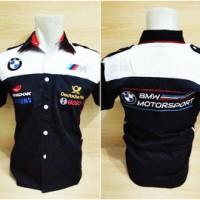harga Kemeja F1 BMW Biru Donker Tokopedia.com
