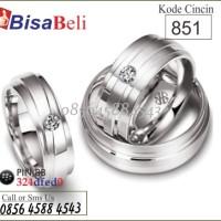 cincin kawin tunangan pernikahan terbaru emas perak palladium no.851
