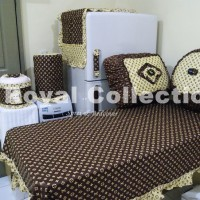 Kitchenset / Set Taplak meja makan / Homeset LV Coklat Tua