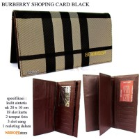 DOMPET BURBERRY KULIT KARTU SHOPING CARD BLACK