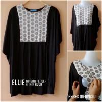 Baju Hamil & Menyusui (Ellie hitam roda putih lengan pendek)