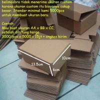 Kardus / Karton / Box / Boks Polos - 13,5 x 10 x 6