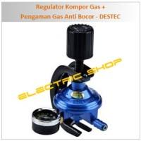Jual Regulator Kompor Gas Meter + Pengaman Gas Anti Bocor - DESTEC Murah
