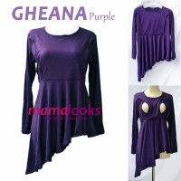 Baju Menyusui Mamalooks GHEANA Purple
