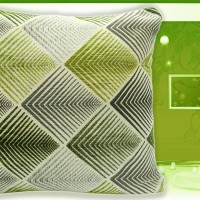 Bantal Sofa Ekspor (Motif Geometrik Aspire Modern Green)
