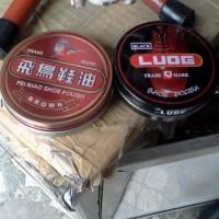 Semir Sepatu Lude dan Fei Niao Warna Black and Brown