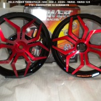 harga Velg Power Tarantula / Star Black - Red Vario 110 - Beat - Mio - Xeon Tokopedia.com