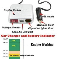 Accu Voltage Meter and Car Mobile Phone Charger