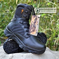 "Sepatu delta force 8"" black usa import tactical boots airsoft military"