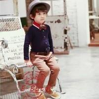 Setelan Formal Anak KOREAN POP (Navy Classic)
