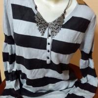 (ORIGINAL) G2000 Rajut Semi Dress Panjang Black Grey Liris Panjang