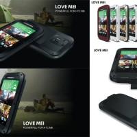 Love Mei Powerful Premium Metal Hard Soft Case HTC One M8
