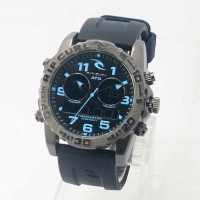 jam tangan RipCurl Cortez Hitam list Biru Kw Super