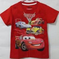 Kaos Anak Cars Merah 3D