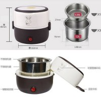 mini rice warmer cooker rantang 2 susun tingkat penghangat makanan dll