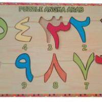 Puzzle Angka Arab~Mainan Kayu~Edukasi