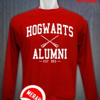 JAKET SWEATER HOGWARTS ALUMNI RED