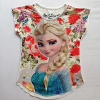 Kaos Anak Frozen Kode: KAFZ09 size 4 (3-4 tahun)