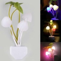 lampu dinding hias tidur Mushroom LED Light Night Wall Lamp proyektor