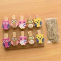 Wooden Clip Owl / Jepitan Kayu / Klip Kertas