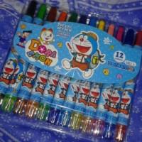 Crayon Putar Mini Doraemon isi 12