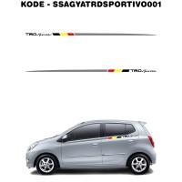 Sticker Side Stripe Toyota Agya TRD Sportivo