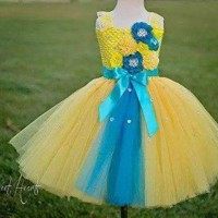 Gaun pesta anak yellow
