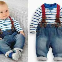 baju anak import suspender jeans