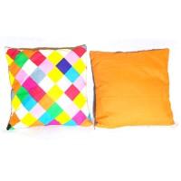 Sarung Bantal Kursi Sofa Motif Ketupat Warna Warni Ukurn 40x40