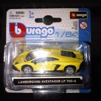 Bburago Diecast 1:64 - Lamborghini Aventador LP 700-4 Kuning