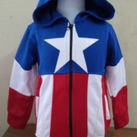 JKKDL6 - Jaket Anak Laki Captain America Logo (XXL)