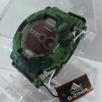 Jam Tangan D-Ziner 8054 Rubber Original Loreng Army