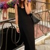 BASIC MAXI LONG DRESS / SPANDEK RAYON/ BLACK EDITION