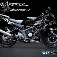 Jual Striping Modif Ninja 150 RR New Motif HAYABUSA DC - PROSTIKER