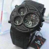 Jam Tangan ALFA AD2-880047 FOUR TIME ORIGINAL BLACK COLOUR