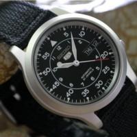 Jam Tangan Seiko 5 SNK809K2 Black Military Strap | Automatic SNK809 K2
