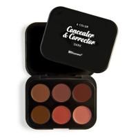 BH Cosmetics 6 Color Concealer & Corrector Palette - Dark