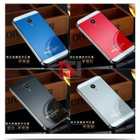 Casing Two Tone Aluminium Glass Battery Cover Meizu Mx4