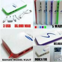 harga Power Bank Samsung 85000mAh 3 Output Model Jok Kulit bahan bagus Tokopedia.com