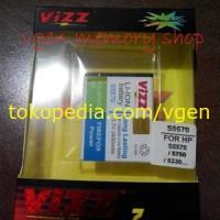 Battery Galaxy Mini 2400MAH VIZZ long lasting Baterai Samsung S5570