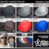 Topi Pet Dewasa Fleece Polos warna warni Topipet Polosan Newsboy cap