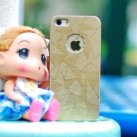 Casing HP Unik METALIC PRISM Gold Iphone 4/4s/5/5s