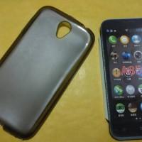 Softcase/silikon/soft case/kondom Lenovo A859 Hitam Transparan