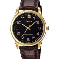 CASIO ANALOG MEN'S MTP-V001GL-1B ORIGINAL - GOLD BLACK BROWN