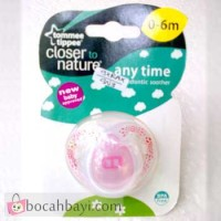 Anytime Orthodontic Soother Tomme Tippee 0-6 Motif Pink